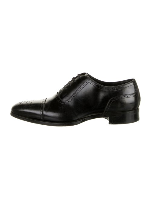 Tom Ford Leather Brogues Black