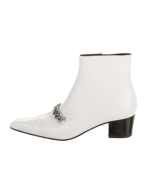 Tom Ford Leather Boots White