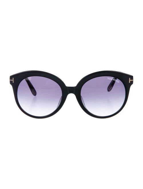 Tom Ford Monica Round Sunglasses Black