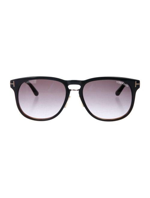 Tom Ford Franklin Round Sunglasses Black