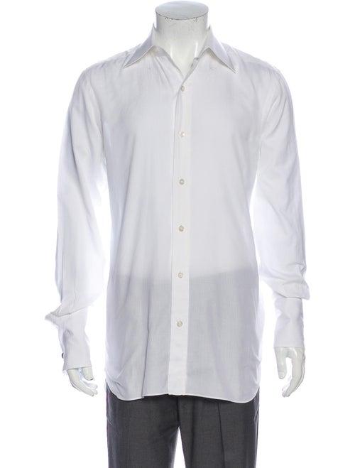 Tom Ford Long Sleeve Dress Shirt White