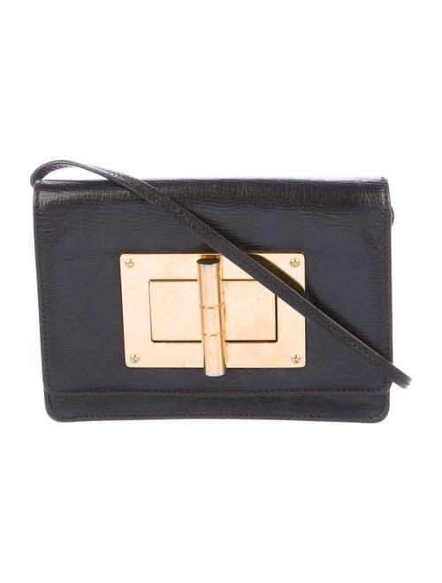 Tom Ford Natalia Leather Crossbody Bag Black