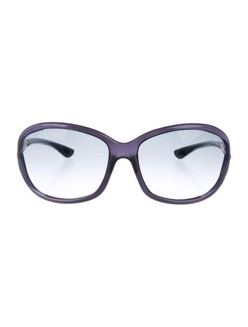 Tom Ford Round Gradient Sunglasses Navy