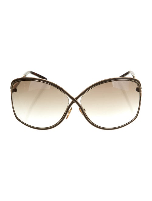 Tom Ford Square Gradient Sunglasses gold