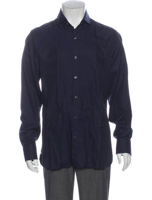 Tom Ford Long Sleeve Dress Shirt Blue