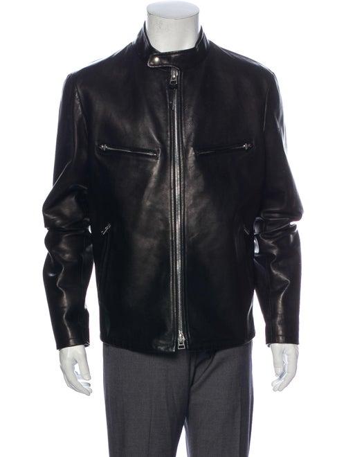 Tom Ford Leather Jacket Black