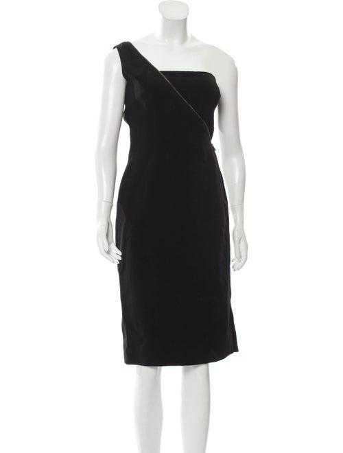 Tom Ford One-Shoulder Zipper Dress Black