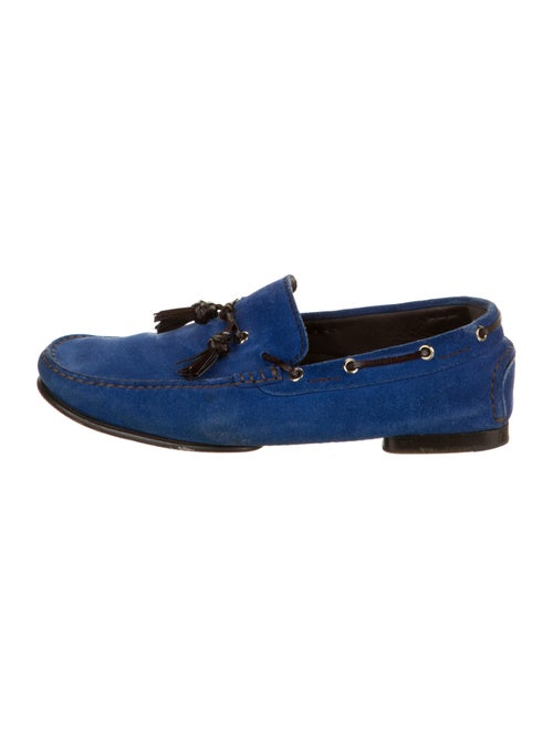 Tom Ford Suede Boat Shoes Blue
