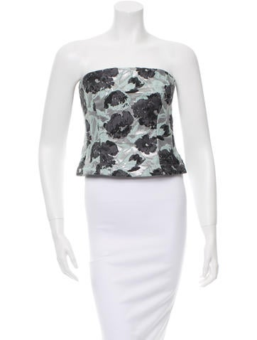 Brock Collection Floral Printed Corset Top w/ Tags None