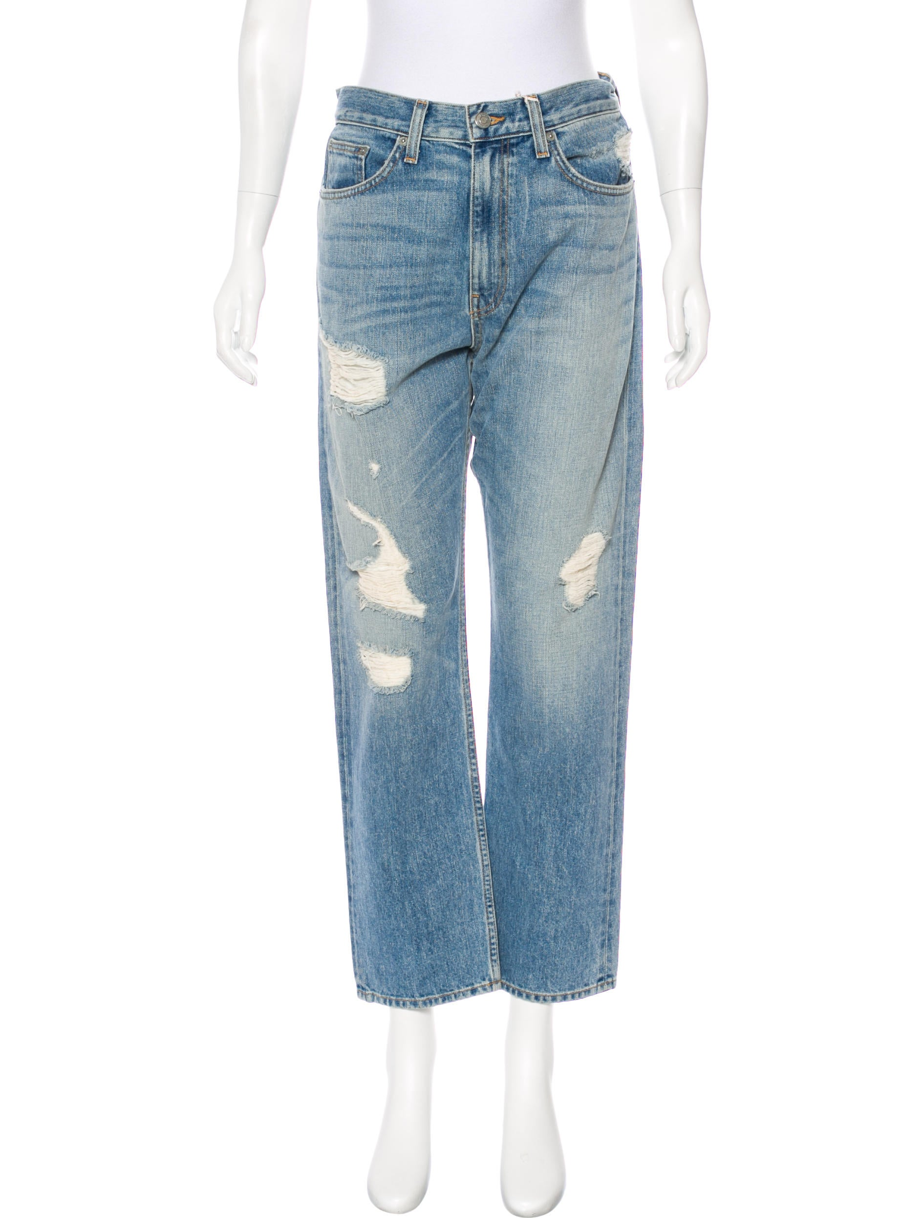 high-waisted jeans - Blue Brock Collection Tz5Q0t