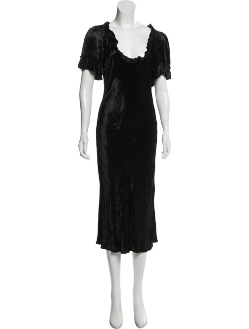 Brock Collection 2019 Velvet Dress Black