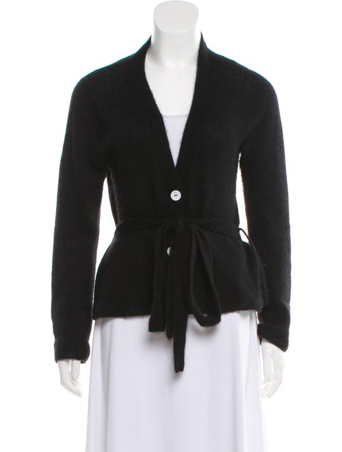Brock Collection Cashmere Belted Cardigan Black