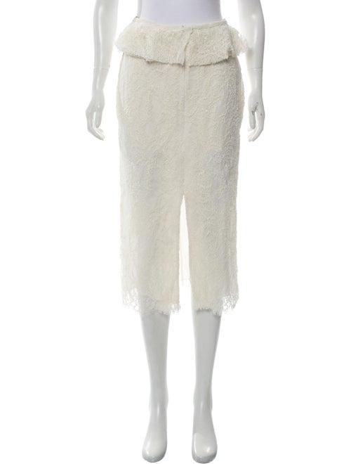 Brock Collection Sylvi Lace Midi Skirt