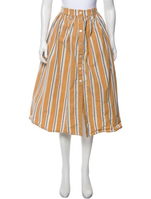 Brock Collection Striped Midi Length Skirt