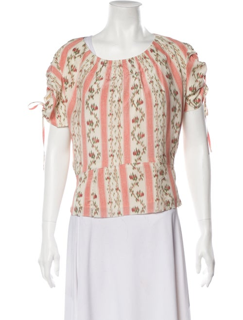 Brock Collection Silk Printed Blouse