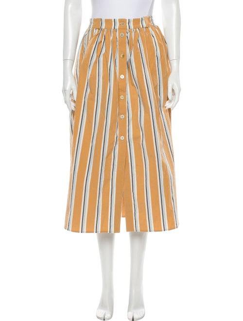 Brock Collection Striped Midi Length Skirt