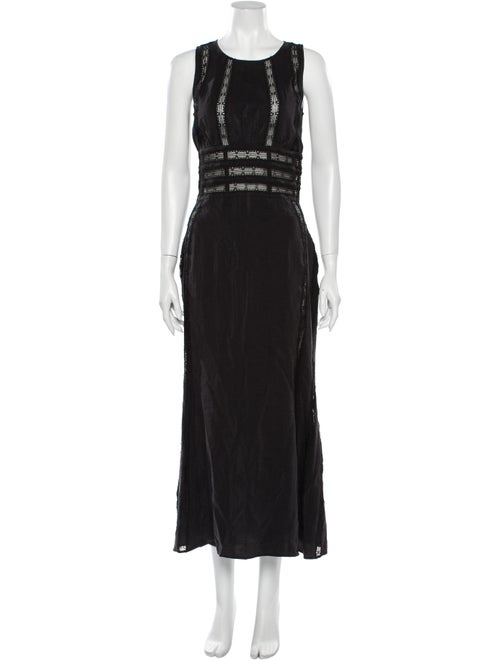 Brock Collection Silk Long Dress Black