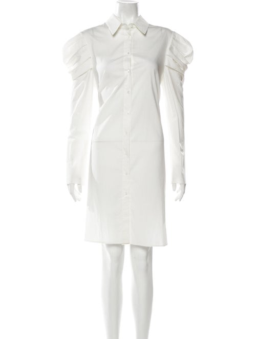Brock Collection Pleated Shirt Dress w/ Tags White