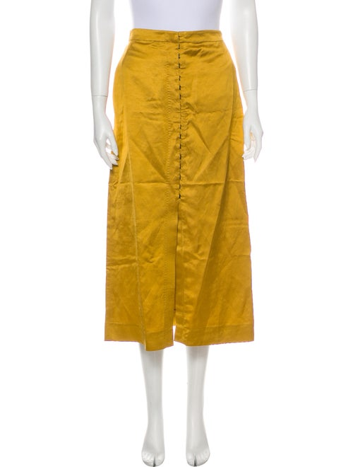 Brock Collection Midi Length Skirt Yellow