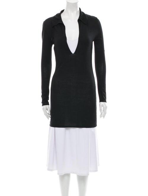 Brock Collection Plunge Neckline Sweater Black