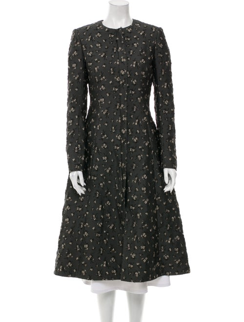 Brock Collection Floral Print Coat Grey