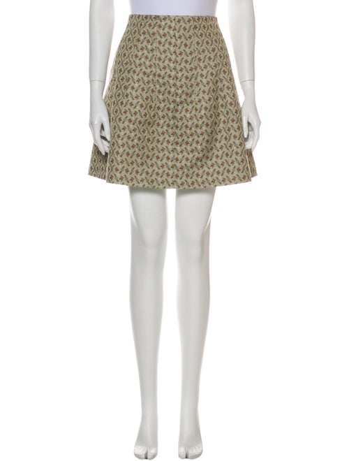 Brock Collection Printed Mini Skirt