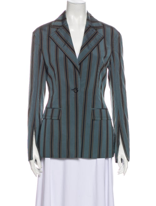 Brock Collection Striped Blazer Green
