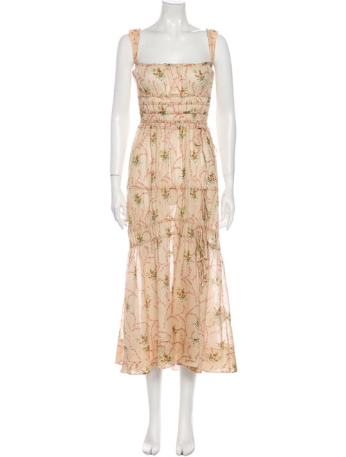 Brock Collection Floral Print Midi Length Dress