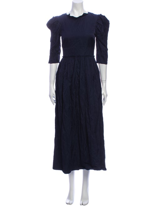 Brock Collection Crew Neck Long Dress Black
