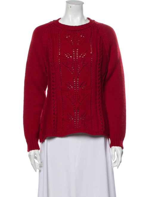 Brock Collection Crew Neck Sweater Red