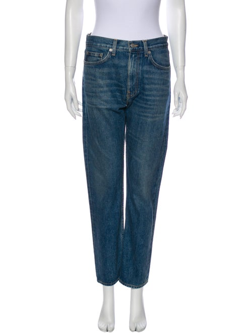 Brock Collection High-Rise Straight Leg Jeans Blue
