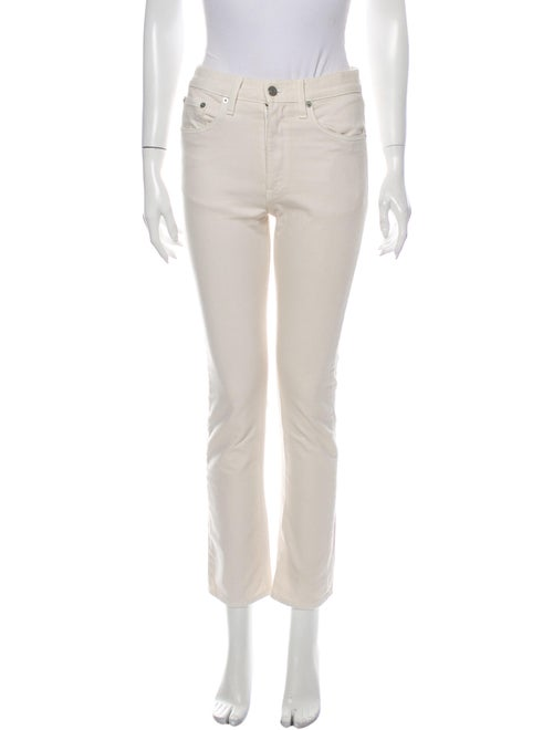 Brock Collection High-Rise Straight Leg Jeans