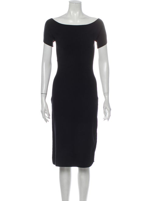 Brock Collection Bateau Neckline Midi Length Dress