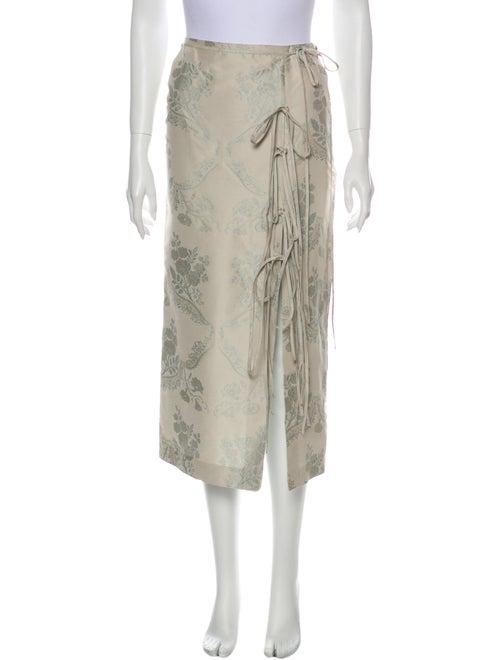 Brock Collection Midi Length Skirt Green