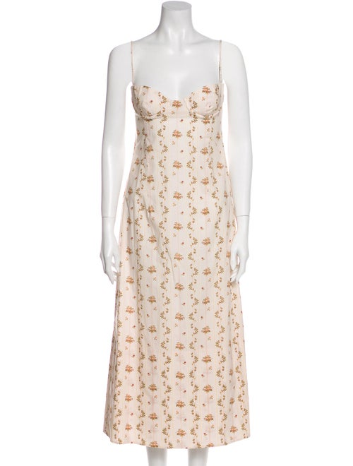 Brock Collection Floral Print Long Dress