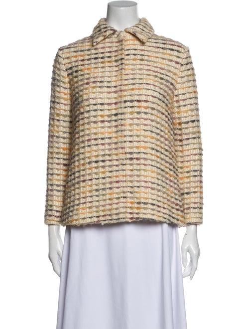 Brock Collection Tweed Pattern Jacket Yellow