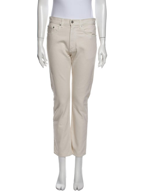 Brock Collection Mid-Rise Straight Leg Jeans