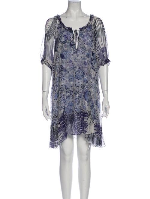 Amelia Toro Silk Mini Dress Blue