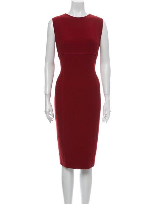 Amelia Toro Crew Neck Midi Length Dress Red