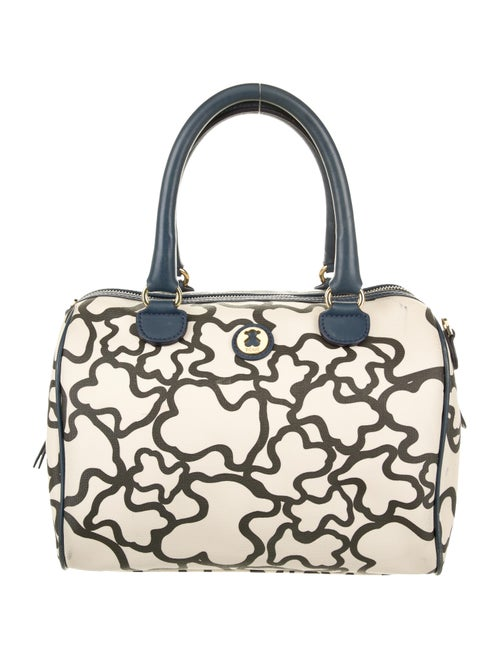 Tous Printed Canvas Shoulder Bag White