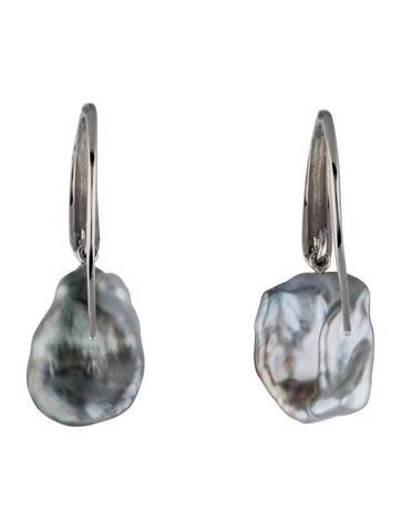 Keshi Pearl Drop Earrings w/ Tags