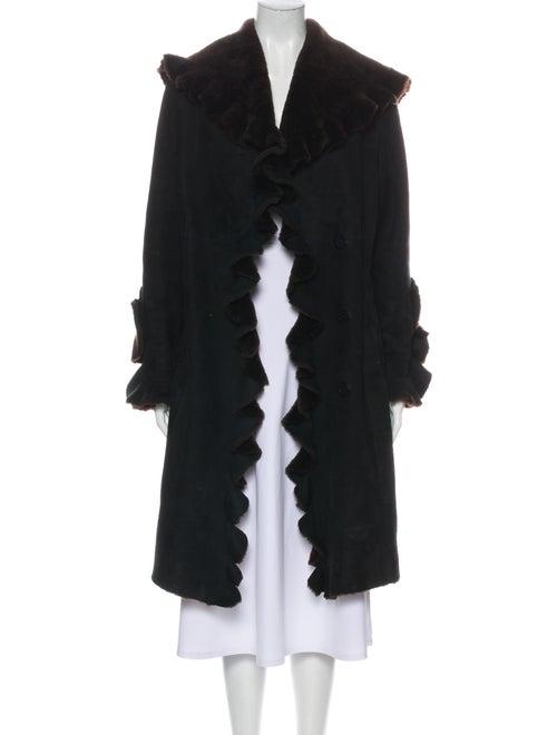 Coat Shearling Coat Brown