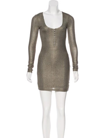Metallic Knit Dress w/ Tags None
