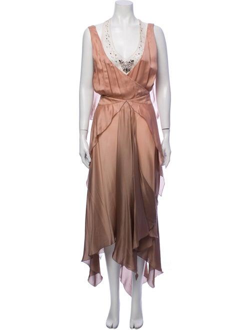 Dress Silk Long Dress