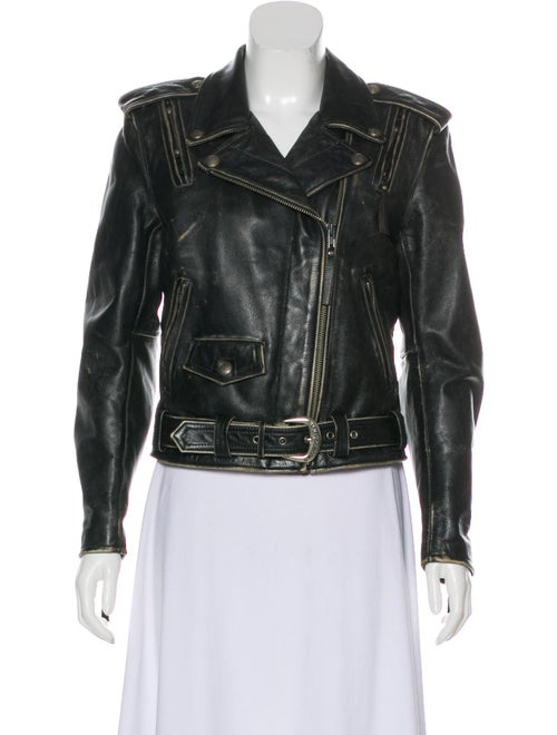 Distressed Leather Jacket by Jacket