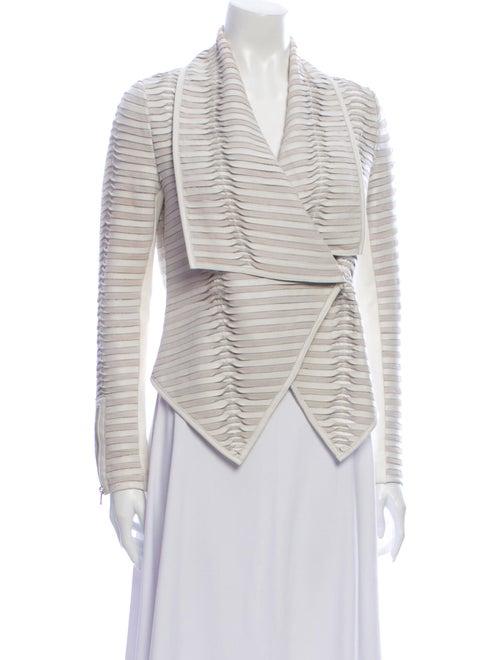 Jacket Leather Striped Blazer White