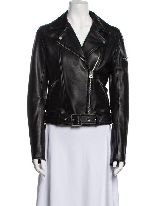 Jacket Leather Biker Jacket Black - image 1