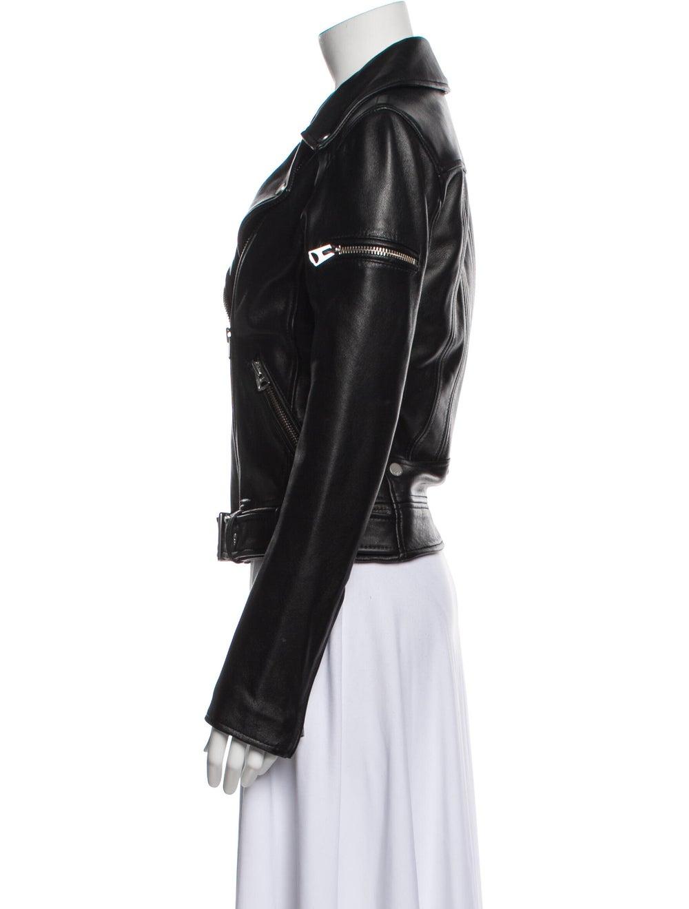 Jacket Leather Biker Jacket Black - image 2