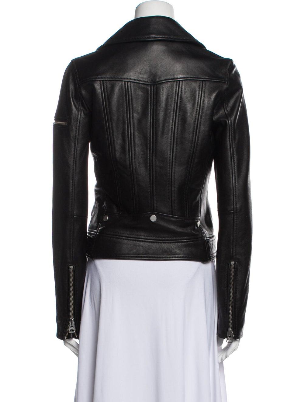 Jacket Leather Biker Jacket Black - image 3