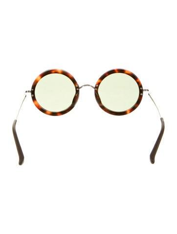 Circular Tortoiseshell Sunglasses